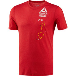 Vêtements Homme T-shirts manches courtes Reebok Sport T-shirt  CrossFit Poly Blend Red