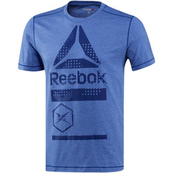 Vêtements Homme T-shirts manches courtes Reebok Sport T-shirt SpeedWick Graphic Blue