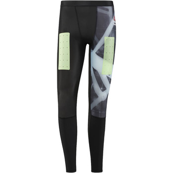 Vêtements Homme Leggings Reebok Sport Collants de compression  CrossFit - Motif Heliorig Noir