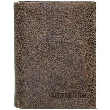 Sacs Homme Portefeuilles Arthur & Aston Portefeuille Arthur et Aston en cuir ref_ast41180-marron-10*12.5 marron