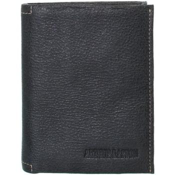 Sacs Homme Portefeuilles Arthur & Aston Portefeuille Arthur et Aston en cuir ref_ast41180- noir