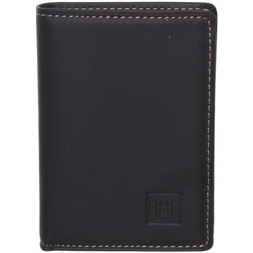 Sacs Homme Portefeuilles Hexagona Porte-cartes  en cuir ref_xga40897-noir-8*10*2 noir