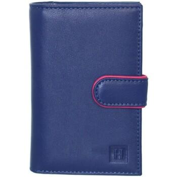 Sacs Homme Portefeuilles Hexagona Compagnon  cuir ref_hga40924 bleu Bleu