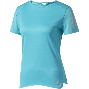 Vêtements Femme T-shirts manches courtes adidas Originals Response Short Sleeve Tee W Turquoise