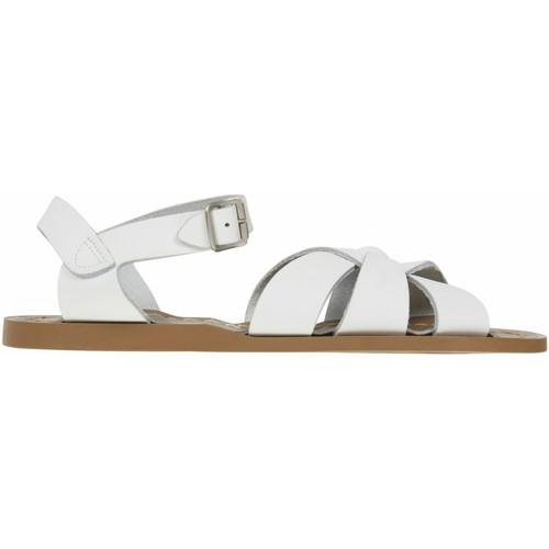 Chaussures Femme Sandales et Nu-pieds Salt Water Sandales ado en cuir uni Blanc
