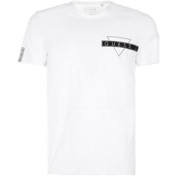 Vêtements Homme T-shirts manches courtes Guess T-Shirt Homme Blanc 1