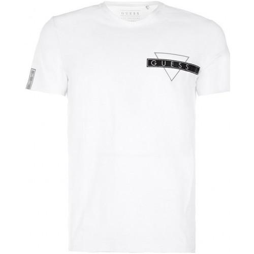 Vêtements Homme T-shirts manches courtes Guess T-Shirt Homme Blanc Blanc