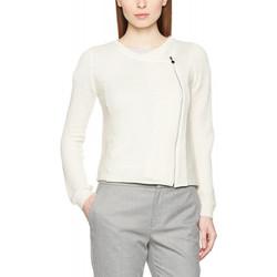 Vêtements Femme Gilets / Cardigans Le Temps des Cerises Gilet Handy Blanc Cassé 1