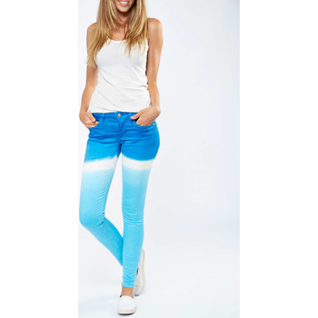 Vêtements Homme Jeans slim Itgirl Berlin Jeans  Salome Skinny Turquoise Femme Turquoise