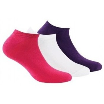 Accessoires Femme Chaussettes Kindy Invisibles X3 jersey unies femme Fuchsia Aubergine