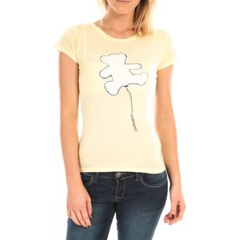 Vêtements Femme T-shirts manches courtes LuluCastagnette T-Shirt Pics Printe Ours Jaune Jaune