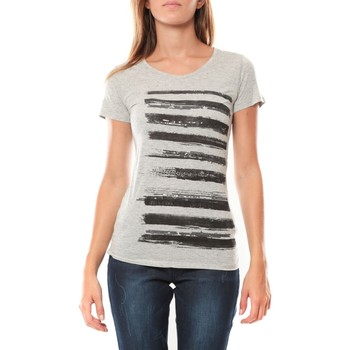 Vêtements Femme T-shirts manches courtes LuluCastagnette Tee shirt Pali Gris Gris