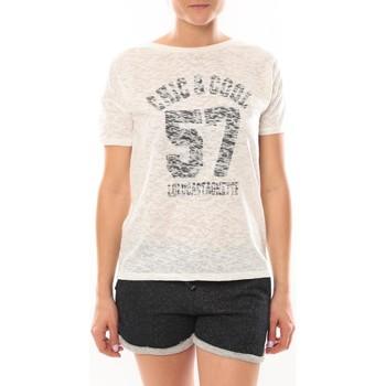 Vêtements Femme T-shirts manches courtes LuluCastagnette T-shirt Cool Blanc Blanc