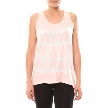 Vêtements Femme Tops / Blouses LuluCastagnette Débardeur Tye And Dye Poudre/Blanc Blanc