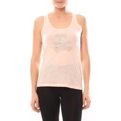 Vêtements Femme Tops / Blouses LuluCastagnette Débardeur Transfert Ours Poudre Rose