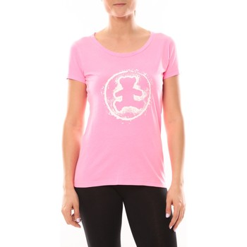 Vêtements Femme T-shirts manches courtes LuluCastagnette T-shirt Happy Rose Rose