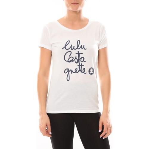 Vêtements Femme T-shirts manches courtes LuluCastagnette T-shirt Muse Blanc Blanc