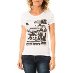 Vêtements Femme T-shirts manches courtes LuluCastagnette T-shirt Mag Blanc Blanc