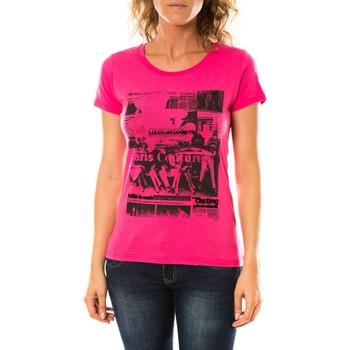 Vêtements Femme T-shirts manches courtes LuluCastagnette T-shirt Mag Rose Rose