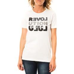 Vêtements Femme T-shirts manches courtes LuluCastagnette T-shirt Sequy Blanc Blanc