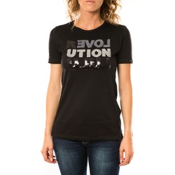Vêtements Femme T-shirts manches courtes LuluCastagnette T-shirt Sequy Noir Noir
