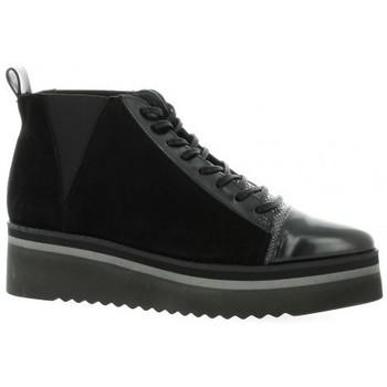 Chaussures Femme Baskets montantes Vidi Studio Boots cuir velours Noir