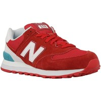 Chaussures Femme Baskets basses New Balance NBWL574CNCB090 Rouge-Blanc