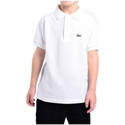 Vêtements Enfant Polos manches courtes Lacoste Polo  basique blanc pour enfant Blanc