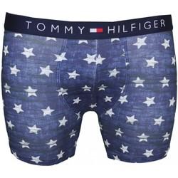 Vêtements Homme Boxers / Caleçons Tommy Hilfiger Boxer long  bleu motif étoile pour homme Bleu