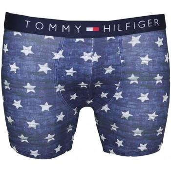 Boxers / caleçons tommy hilfiger boxer long bleu motif étoile pour homme