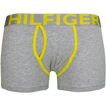 Sous-vêtements Homme Boxers Tommy Hilfiger Boxer court Tommy Hilfiger gris et jaune pour homme Gris