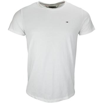 Vêtements Homme T-shirts manches courtes Tommy Hilfiger T-shirt col rond Tommy Hilfiger basique blanc pour homme Blanc