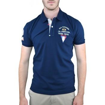 Vêtements Homme Polos manches courtes La Martina Polo  French Cruise bleu marine pour homme Bleu