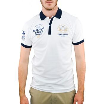 Vêtements Homme Polos manches courtes La Martina Polo  Buenos Aires blanc pour homme Blanc