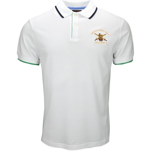 Vêtements Homme Polos manches courtes Hackett Polo  British Army blanc pour homme Blanc
