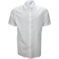 Vêtements Homme Chemises manches courtes Hackett Chemise manches courtes  blanche classic fit pour homme Blanc