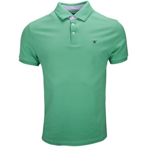 Vêtements Homme Polos manches courtes Hackett Polo  vert col imprimé pour homme Vert