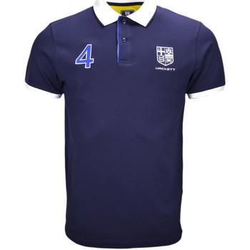 Vêtements Homme Polos manches courtes Hackett Polo  Aviron bleu marine pour homme Bleu