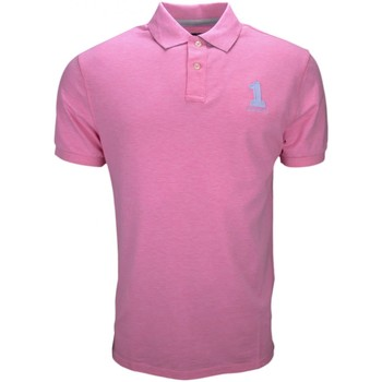 Vêtements Homme Polos manches courtes Hackett Polo  basic one rose pastel pour homme Rose