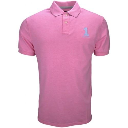 Vêtements Homme Polos manches courtes Hackett Polo  basic one rose pastel pour homme Rose