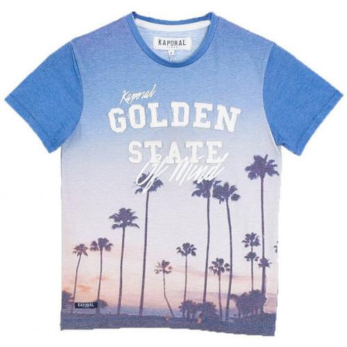 Vêtements Garçon T-shirts manches courtes Kaporal T-Shirt Garçon Medon Cobalt Bleu