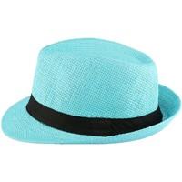 Accessoires textile Enfant Chapeaux Nyls Création Chapeau Paille Enfant Bleu Ciel Mylko 6 a 11 ans Bleu