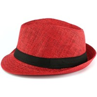 Accessoires textile Enfant Chapeaux Nyls Création Chapeau Paille Enfant Rouge Mylko 6 a 11 ans Rouge