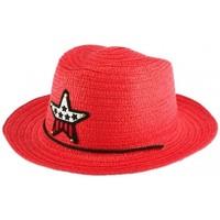 Accessoires textile Enfant Chapeaux Nyls Création Chapeau enfant rouge Wayne 5 a 10 ans Rouge
