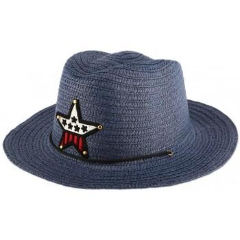 Accessoires textile Enfant Chapeaux Nyls Création Chapeau enfant Bleu Wayne 5 a 10 ans Bleu