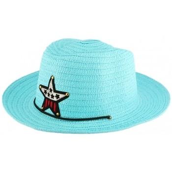 Accessoires textile Enfant Chapeaux Nyls Création Chapeau enfant Bleu Ciel Wayne 5 a 10 ans Bleu