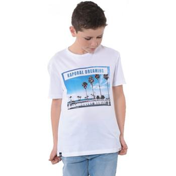 Vêtements Garçon T-shirts manches courtes Kaporal T-Shirt Garçon Morep Blanc Blanc