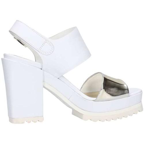 Chaussures Femme Sandales et Nu-pieds Emporio Di Parma 612 Sandale Femme Blanc / platine Blanc / platine