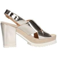 Chaussures Femme Sandales et Nu-pieds Emporio Di Parma 613 Sandale Femme platine platine