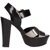 Chaussures Femme Sandales et Nu-pieds Emporio Di Parma 625 Sandale Femme Noir / fer Noir / fer
